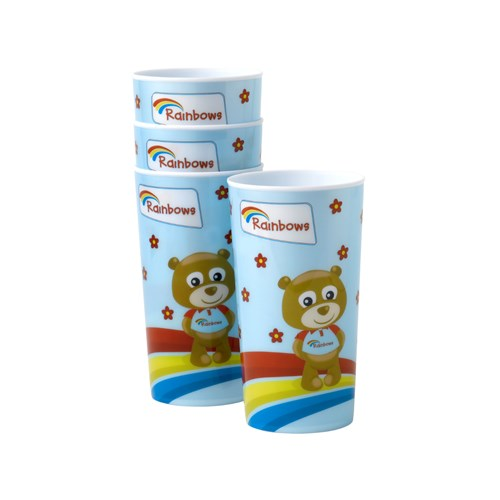 Rainbows plastic stacking cups 4pk