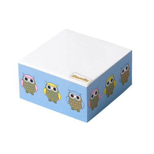 Brownies owl design cube note pad