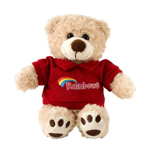 Rainbows teddy bear in t-shirt
