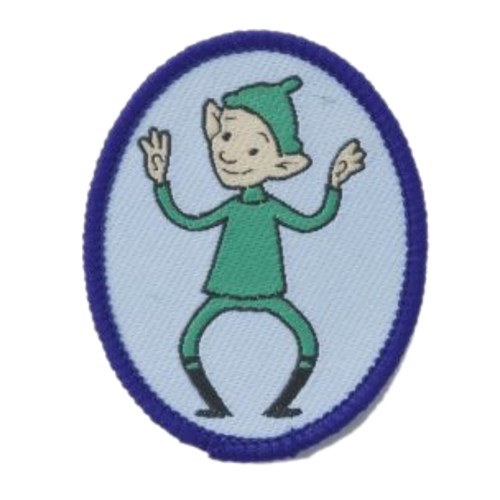 Brownies Pixie Six emblem woven badge