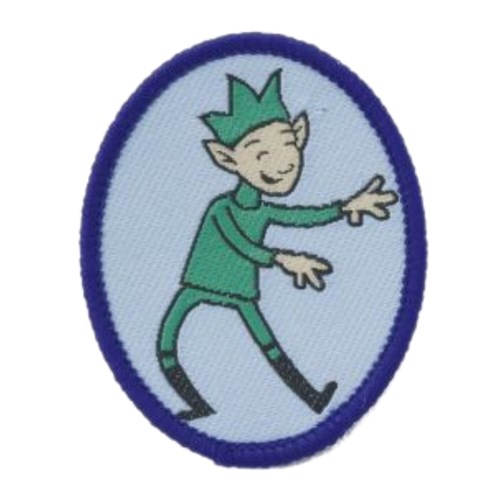 Brownies Sprite Six emblem woven badge