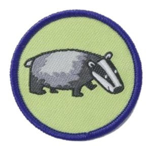 Brownies badger six emblem woven badge