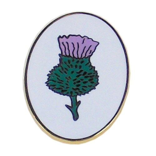 Patrol pin badge thistle