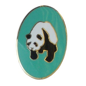 Patrol pin badge panda