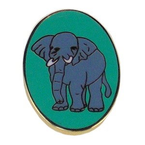 Patrol pin badge elephant