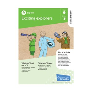 Explore skills builder stage 1 Exciting explorers activity resource