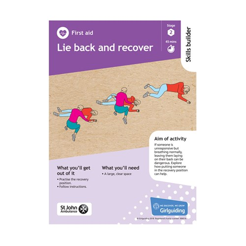 First Aid skills builder stage 2 Lie back and recover activity resource