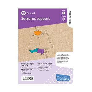 First Aid skills builder stage 5 Seizures support activity resource