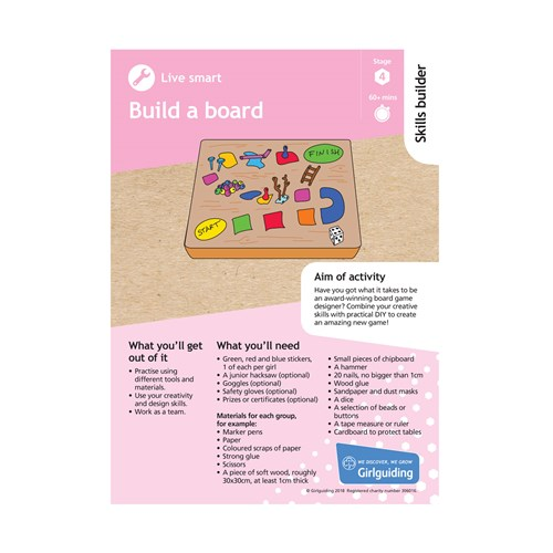 Live smart skills builder stage 4 Build a board activity resource