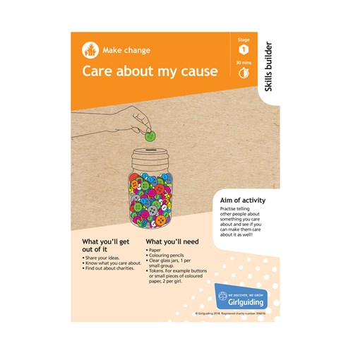 Make Change skills builder stage 1 Care about my cause activity resource