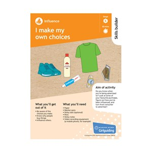 Influence skills builder stage 6 I make my own choices activity resource