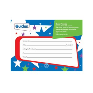 Guides old programme promise badge certificate