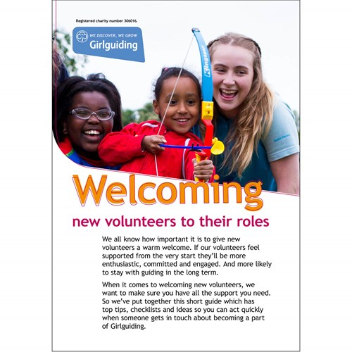 Girlguiding Welcome to new Volunteers material