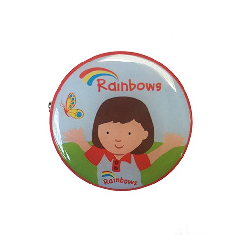 Rainbows Olivia metal badge
