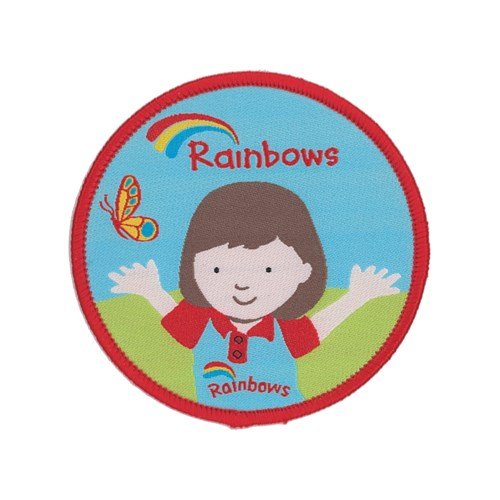 Rainbows Olivia woven badge