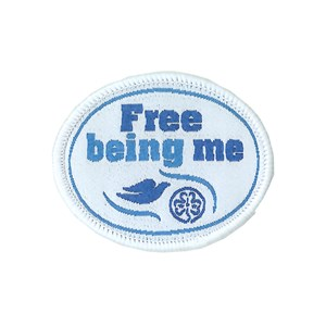 Free Being Me WAGGGS woven badge