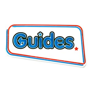 Guides logo rubber badge