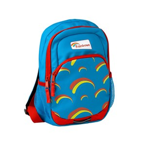 Rainbows lightweight blue backpack