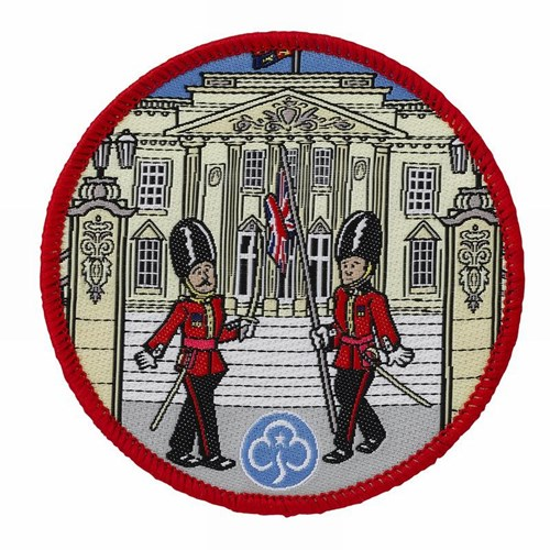 London Buckingham Palace woven badge