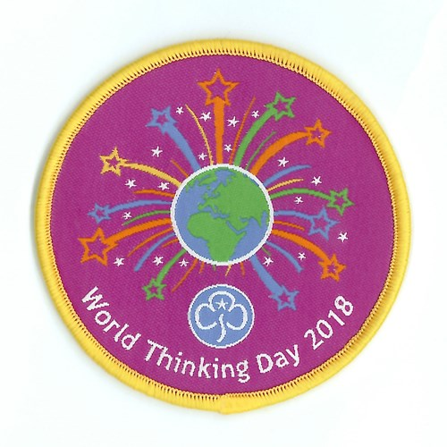 World Thinking Day 2018 woven badge