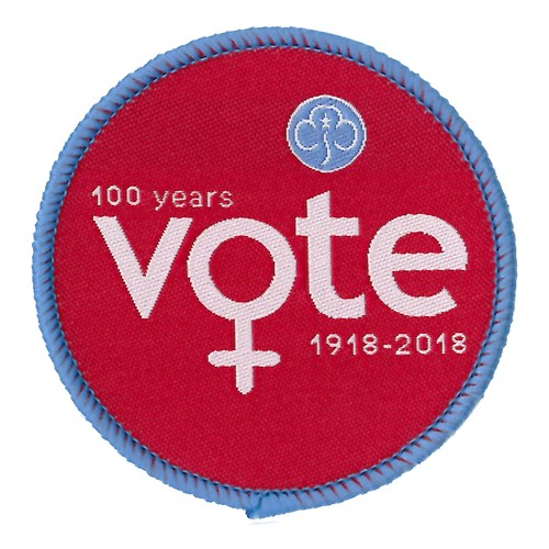 100 years of women vote 1918 - 2018 woven badge