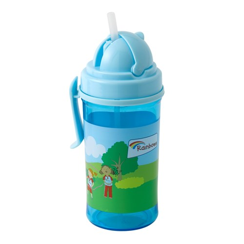 Rainbows water bottle with clip