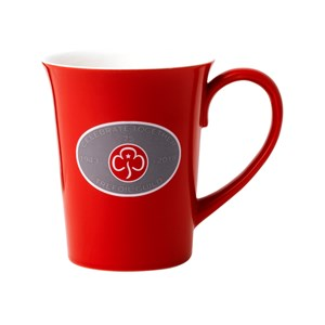 Trefoil Guild red mug 75th anniversary