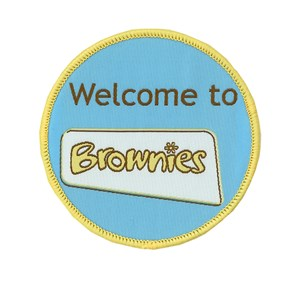 Welcome to Brownies woven badge