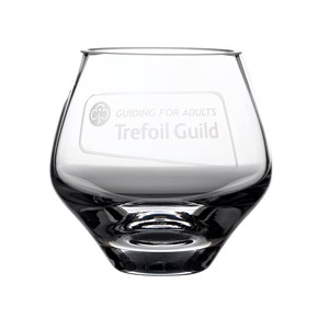 Dartington Glass Trefoil Guild votive with engraved logo