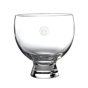 Darington crystal lynton bowl with engraved trefoil