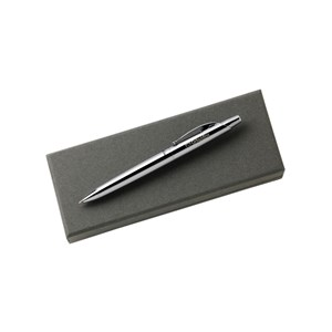 Engraved Girlguiding logo on silver pen