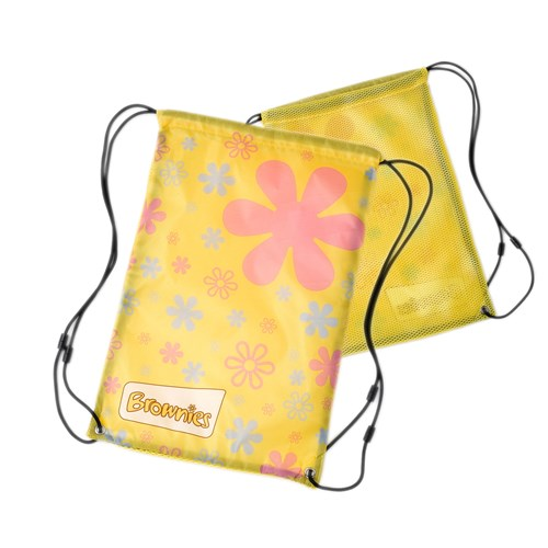 Brownies mesh sling bag drawstring