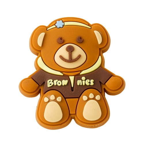 Brownies teddy bear wearing jacket pin badge