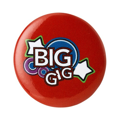 Big Gig red pin badge