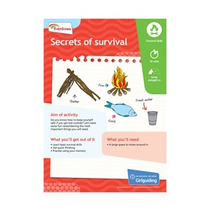 Rainbows Unit Meeting Activity Have adventures Secrets of survival