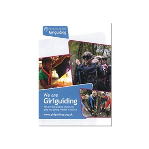 We are Girlguiding marketing promotional material