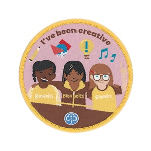 I've been creative Brownies woven badge