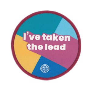 I've taken the lead multi section woven badge
