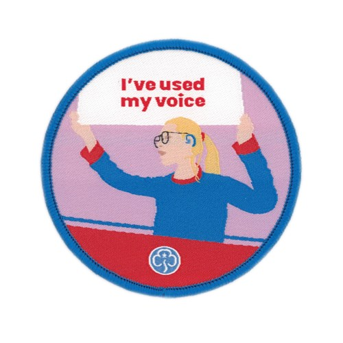 I've used my voice Guides woven badge