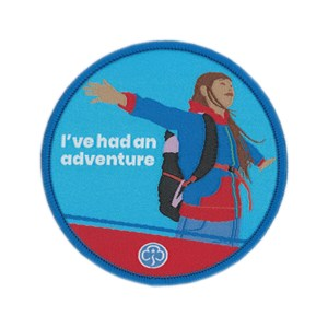 I've been on an adventure Guides woven badge