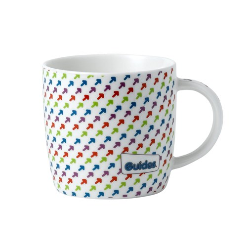 Guides ceramic mug with coloured arrows
