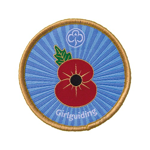 Royal British Legion Girlguiding Remembrance day woven badge