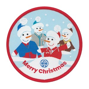 Girlguiding snowman Christmas woven badge