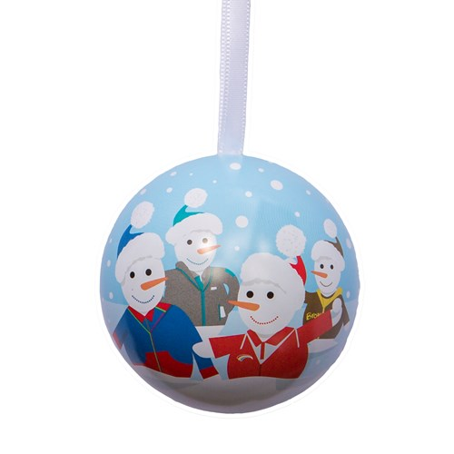 Girlguiding snowman Christmas metal bauble
