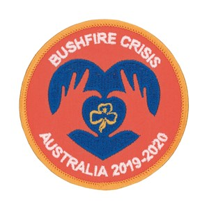 Girl Guides Australia bushfire crisis woven badge