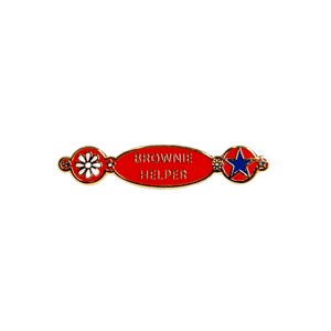 Brownie helper metal badge