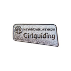 Girlguiding logo metal badge