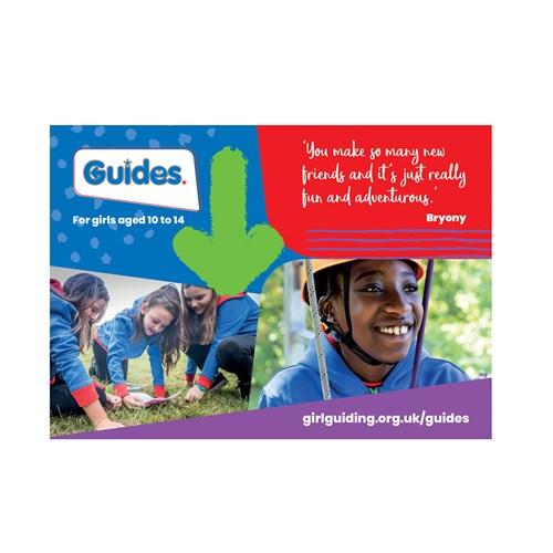 Guides recruitment marketing postcard
