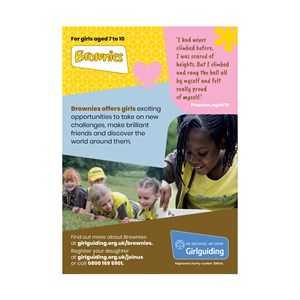 Brownies recruitment marketing poster