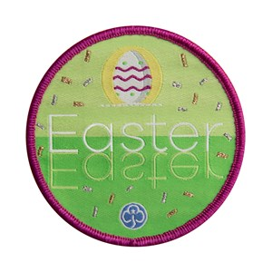 Easter woven badge